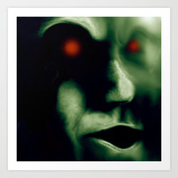 Little green men, no just ugly and androgynous Art Print by BruceStanfieldArtist.DarkSide
