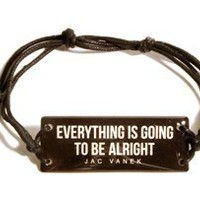 EVERYTHING IS GOING TO BE ALRIGHT Wide String Bracelet