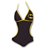 Batman Classic One Piece Monokini Swimsuit - Black: Amazon.com: Clothing