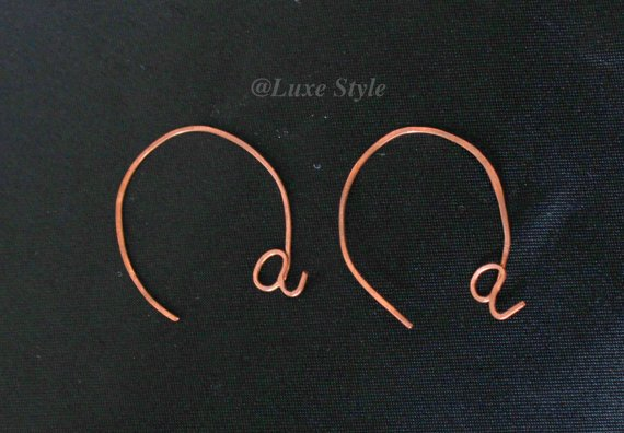 Open hoop ear rings copper metal at handmade unique techie Luxe style