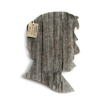 Abraham Lincoln made of recycled fence wood Abe by JohnBirdsong