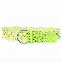 Neon Wide PU Cut Out Belt