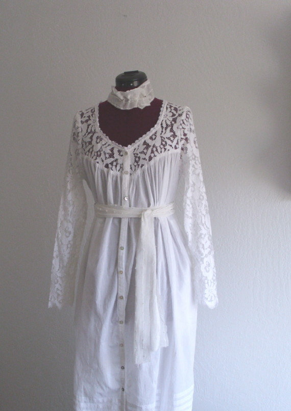 Rustic Wedding Dress French Country Lace From KheGreen On Etsy