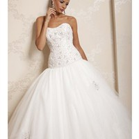 Ball gown strapless ivory organza 2012 wedding dresses BAHD0036