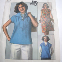 Vintage Simplicity Pattern Womens skirt and pull over top size 16 uncut Jiffy
