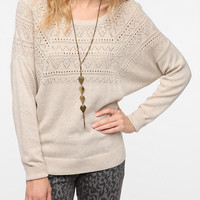 Pins and Needles Pointelle Top Dolman Sleeve Sweater