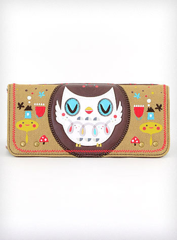 Beaky Beatnik Owl Wallet