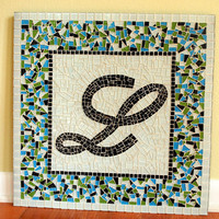 Custom Mosaic, Name Art, Initial Mosaics