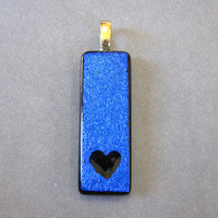 Dichroic Pendant, Heart Slide for Omega Jewelry - Devotion - 593