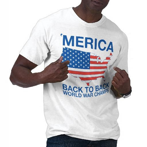 &#x27;Merica Back to Back World War Champs T-shirts from Zazzle.com