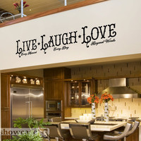 Live, Laugh, Love - Vinyl Wall Art - FREE Shipping - Fun Inspirational Wall Decal