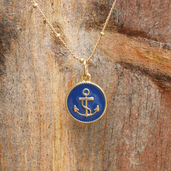 Nautical Navy Anchor [2949] - $12.00 : Vintage Inspired Clothing & Affordable Summer Dresses, deloom | Modern. Vintage. Crafted.