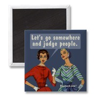 judge people fridge magnets from Zazzle.com
