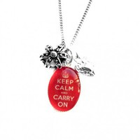 Keep Calm and Carry On Crown and Charm Necklace from Hoolala | Made By Hoolala | £26.00 | Bouf