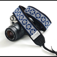 DSLR Camera strap  - Indigo Delight unique camera strap