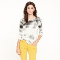 Optic-dot boatneck tee
