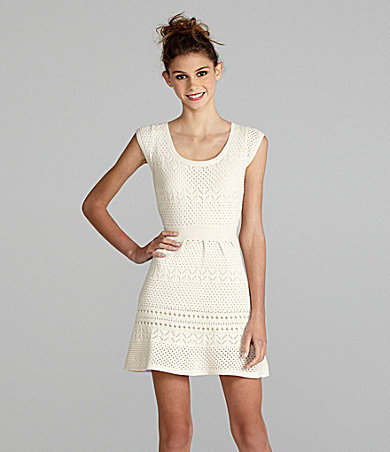 Jessica Simpson Sportswear Cap-Sleeve Dress white | Dillards.com