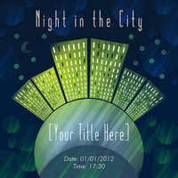 Night In The City Invitation - Card Design - Printable File