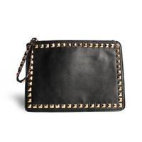 Rectangle Studded Clutch