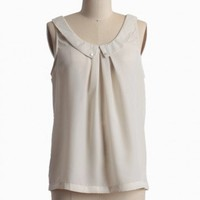 faint mist collared blouse at ShopRuche.com