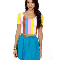Motel Tabbi Top - Striped Top - Crop Top  - $40.00