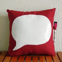 Dry-Erase Quote Pillow Red- Quote Me by Nicole Steward