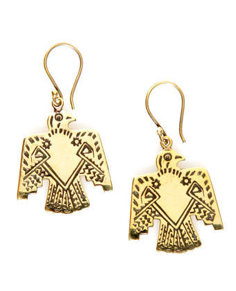 Jen's Pirate Booty Earrings - Bird Earrings - Gold Earrings - $45.00