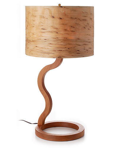 CHERRY AND RAISIN MAPLE WOODEN LAMP