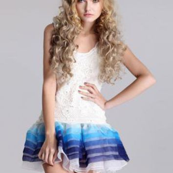 Bqueen Summer Ombre New Vest Dress TFD03L