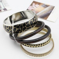 Pack of Six Metal Bangles