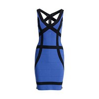 REISS Womens Rich Royal Blue Bodycon Dress