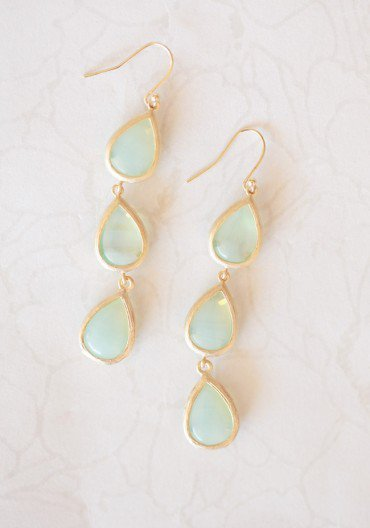 crescent lake drop earrings at ShopRuche.com