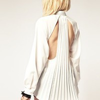 Stylestalker | stylestalker Open Back Pleated Shirt at ASOS