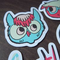 Backyard Owls Sticker Pack - 4 Stic.. on Luulla