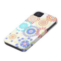 Abstract mandala floral pattern iphone cases iphone 4 case-mate case from Zazzle.com