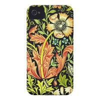 Vintage floral pattern iphone 4 cases from Zazzle.com
