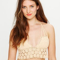 Free People Daisy Crochet Bikini Top