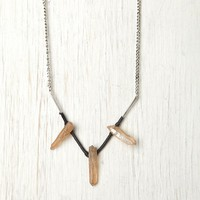 Free People Wishbone Bead Necklace