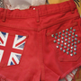 One Direction British Flag High Waisted Destroyed Denim Shorts