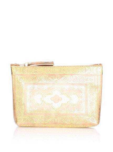 Sweet Bella Leather Venetian Zipper Case, Beige at MYHABIT