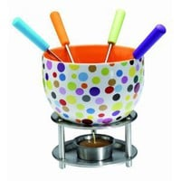 Amazon.com: Orka Chocolate Fondue Set, Spots: Kitchen & Dining