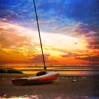 Sunset Sail Art Print by Tammy Wetzel | Society6