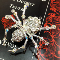 Spider Pendant - Extra Special - Super Sparkly Pave Beads and Swarovski Crystals