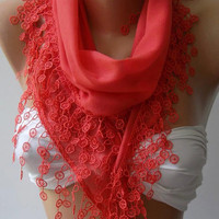 Pomegranate Flower / Cotton/ Traditional Turkish fabric /Anatolian Shawl