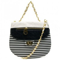 Nautical Stripe Bright Color Mini Shoulder Bag by Nila Anthony