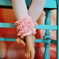 Pink Ruffle  Footless Tights