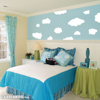 Fluffy Clouds Wall Art Decal