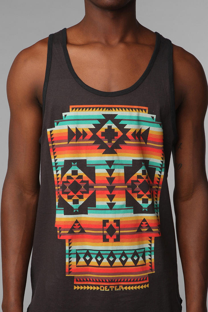 Deter Printed Skull Tank Top