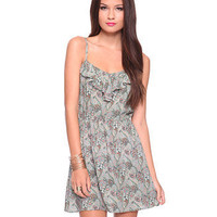 Ruffled Vine Dress - Dress - 2081258041 - Forever21