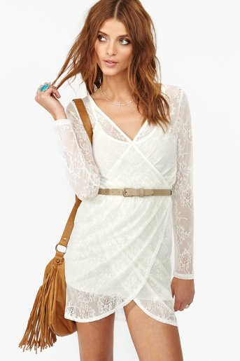 Lace Wrap Dress